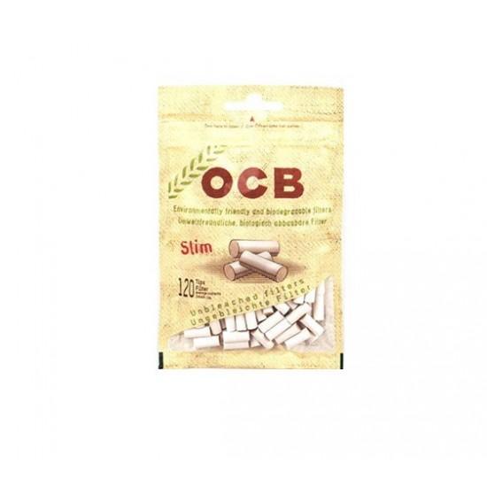 $890 C/U , Bolsa de Filtro OCB Cáñamo Orgánico Slim, venta por caja de 10 bolsas