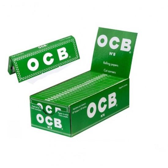 "$300 C/U, Librito OCB VERDE , 1"", venta x caja de 50 libritos"