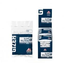 $985 C/U, bolsitas Filtro Gizeh Slim Azul (carbón activado), Venta x caja de 20 unidades