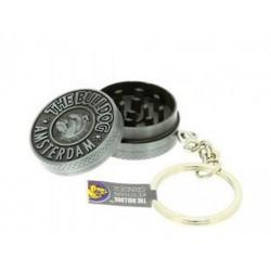 Moledor, Grinder Bulldog Metálico Negro 2 partes, LLAVERO