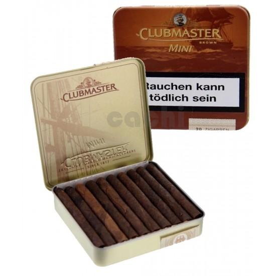 $9.250, Cajita con 20 puritos, Club Master Brown (Chocolate), pack 5 cajitas