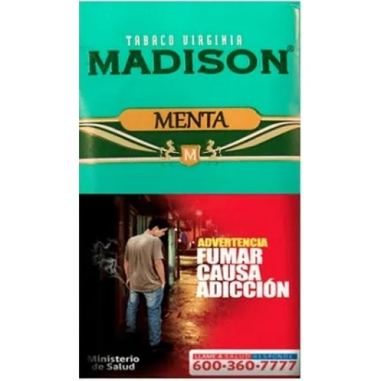 $5.650 c/u, Tabaco Madison Menta, venta por pack de 5 unidades