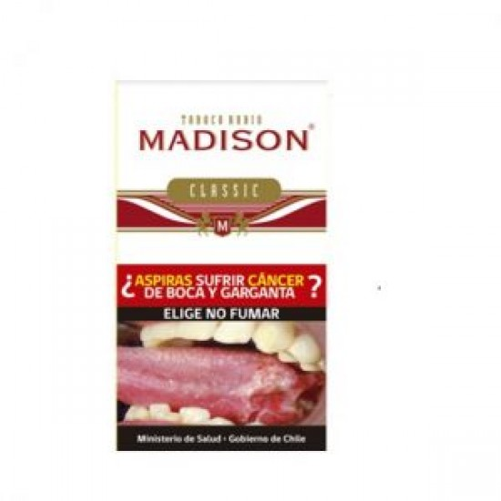 $5.650 c/u, Tabaco Madison Clasic, venta por pack de 5 unidades