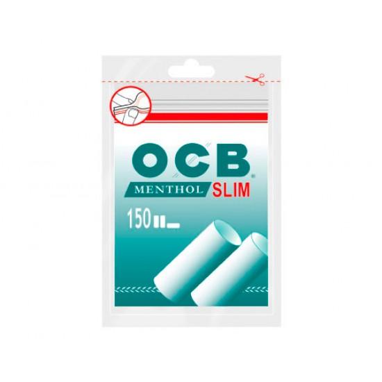 $780 C/U, bolsa de Filtro OCB SLIM MENTOLADO, venta x caja 10 bolsas