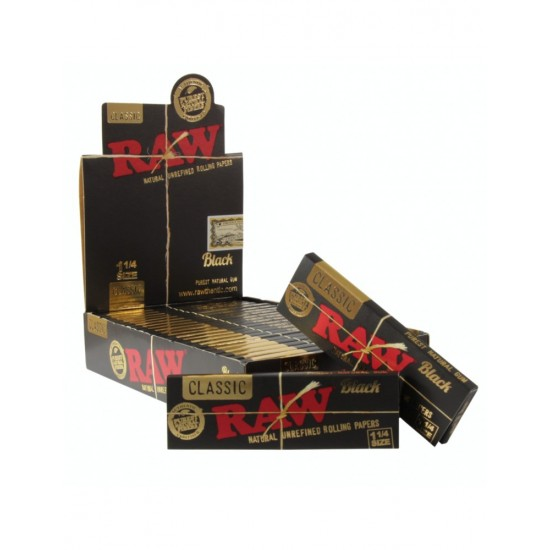 """$660 C/U, Librito RAW Black  1 1/4"""", venta x caja de 24 libritos"""