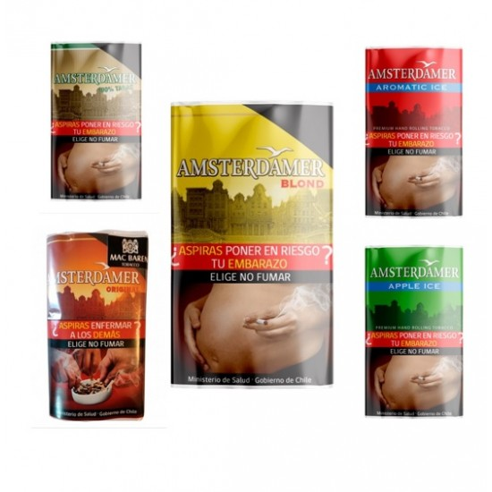 $5.490 c/u, Tabaco, SURTIDO, Amsterdamer, pack 5