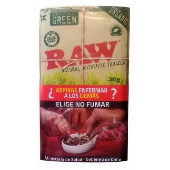 $6.490 c/u, Tabaco , Organic Green, Raw, pack 5